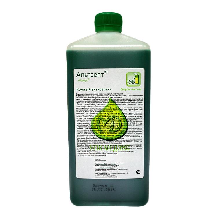 Альтсепт 1 л (окрашенный), кожный антисептик